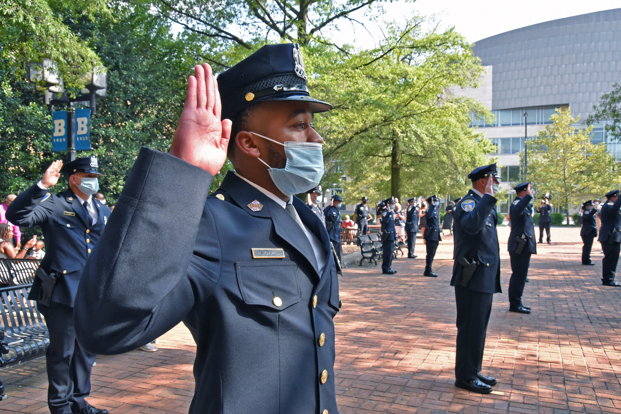 New Baltimore Police Officer at Graduation Ceremony