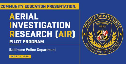 Graphic of Aerial Investigation Research Program (AIR)