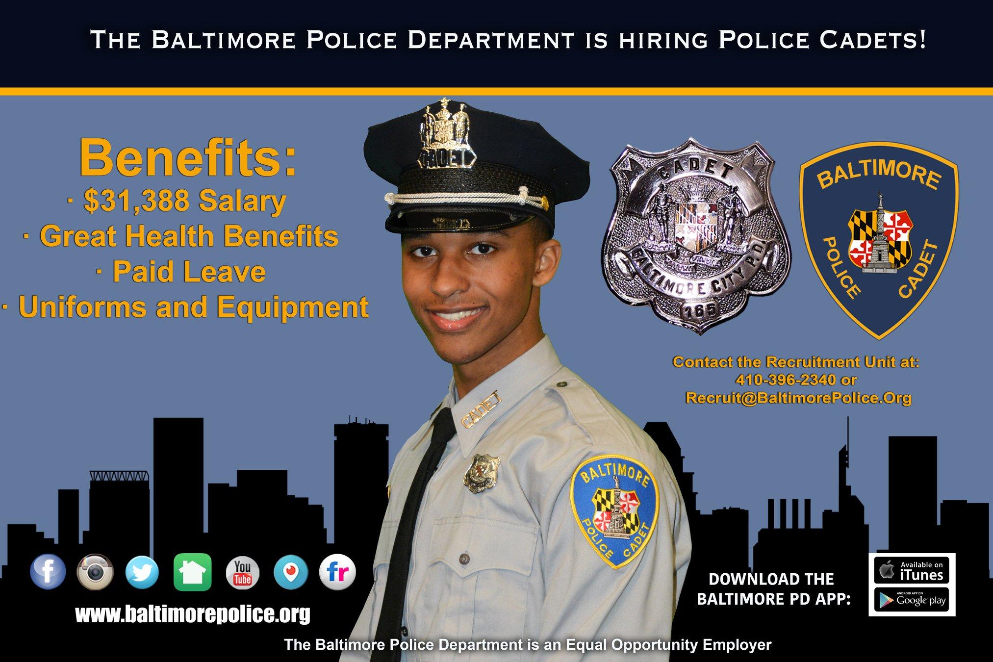 Cadet Careers   Baltimore Police Department