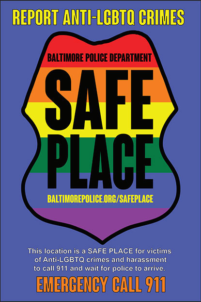 Safe Place Initiative | Baltimore Police Department
